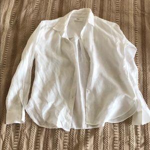 New Long sleeve linen short